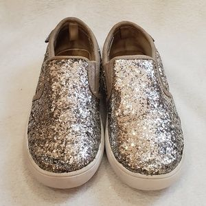 ❌SOLD❌ Carter's Silver Glitter Slip-on Sneakers